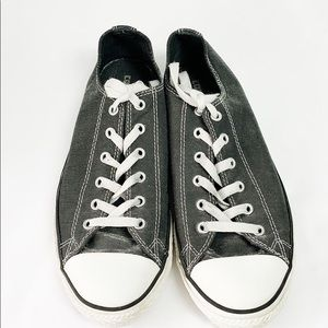 Converse gray glitter coated canvas sneaker